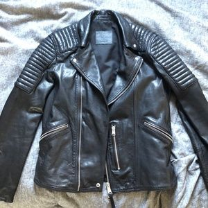 Estello Leather Biker Jacket black